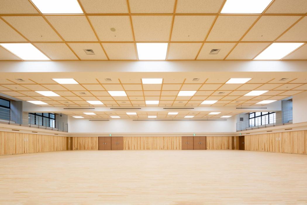 400畳のヒノキの剣道場