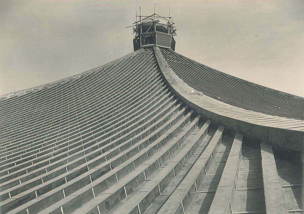 【竣工当時の工事風景】